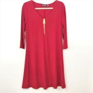 Nina Leonard Jersey Knit Dress Med